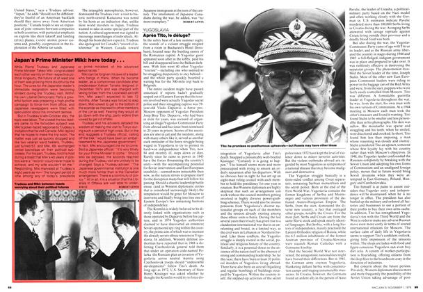 Article Preview: Japan's Prime Minister Miki: here today..., November 1976 | Maclean's