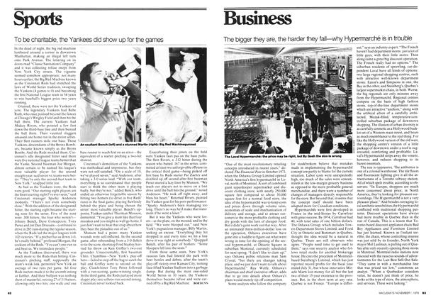 Article Preview: The bigger they are, the harder they fall—why Hypermarché is in trouble, November 1976 | Maclean's