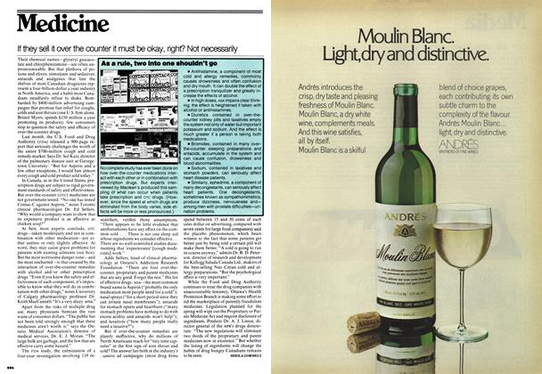 Article Preview: If they sell it over the counter it must be okay, right? Not necessarily, November 1976 | Maclean's