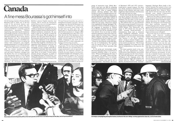 Article Preview: A fine mess Bourassa's got himself into, November 1976 | Maclean's