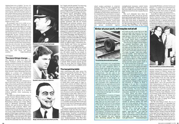 Article Preview: The bargaining table, November 1976 | Maclean's