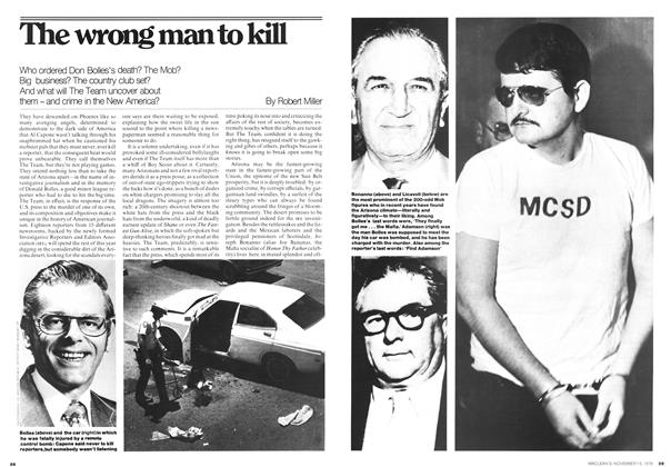 Article Preview: The wrong man to kill, November 1976 | Maclean's