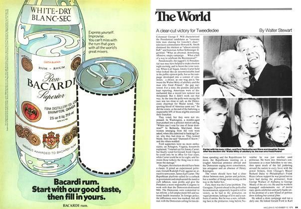 Article Preview: A clear-cut victory for Tweedledee, November 1976 | Maclean's