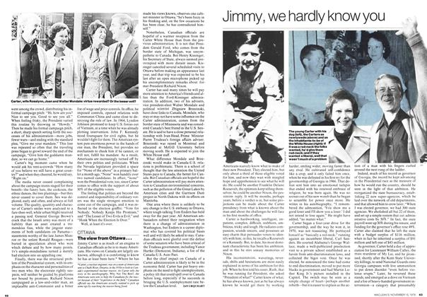 Article Preview: Jimmy, we hardly know you, November 1976 | Maclean's