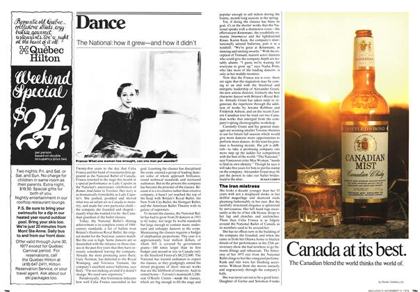 Article Preview: The iron mistress, November 1976 | Maclean's