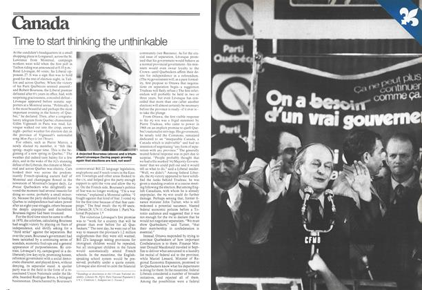 Article Preview: Time to start thinking the unthinkable, November 1976 | Maclean's