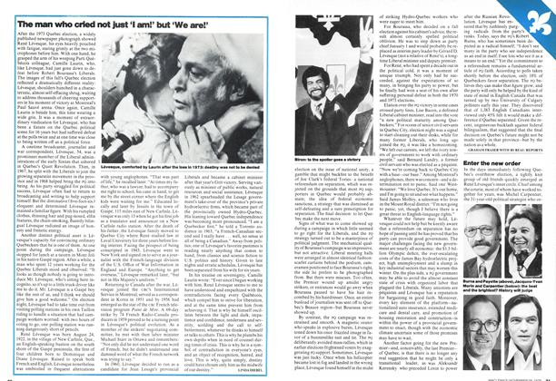 Article Preview: The man who cried not just 'I am!' but 'We are!', November 1976 | Maclean's