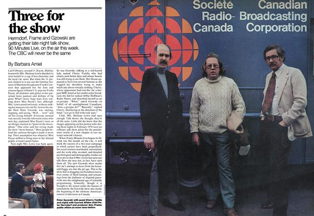 Article Preview: Three for the show, November 1976 | Maclean's