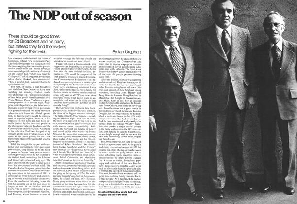 Article Preview: The NDP out of season, November 1976 | Maclean's
