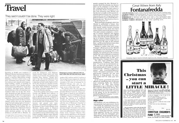 Article Preview: They said it couldn't be done. They were right, November 1976 | Maclean's