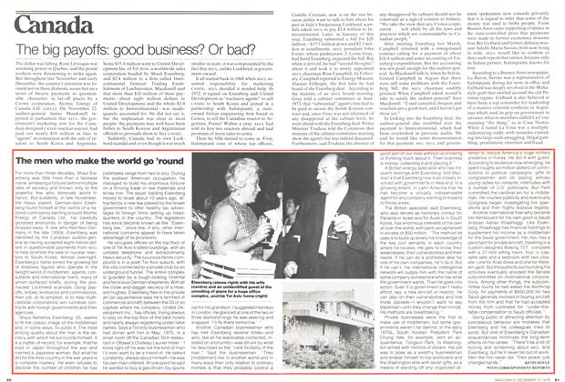 Article Preview: The big payoffs: good business? Or bad?, December 1976 | Maclean's