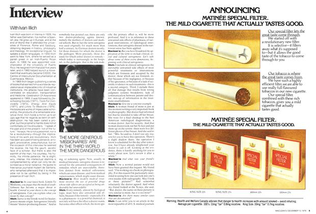 Article Preview: Interview With Ivan Illich, December 1976   Maclean's