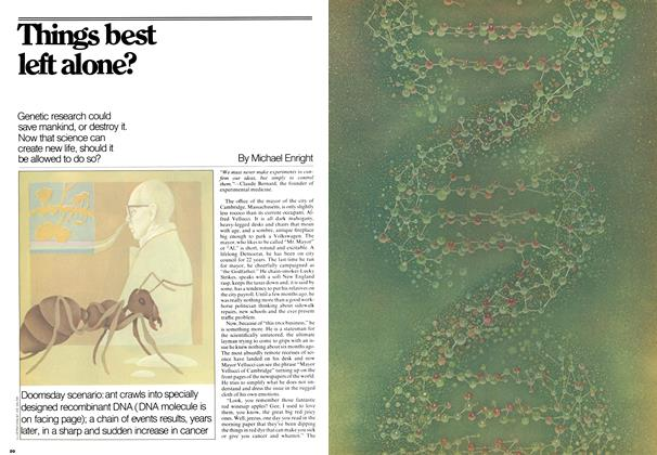Article Preview: Things best left alone?, December 1976 | Maclean's