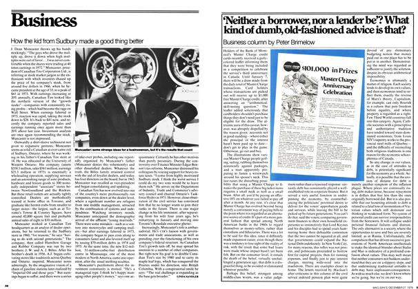 Article Preview: 'Neither a borrower, nor a lender be'? What kind of dumb, old-fashioned advice is that?, December 1976 | Maclean's