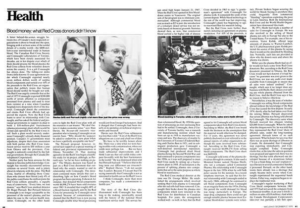 Article Preview: Blood money: what Red Cross donors didn't know, December 1976 | Maclean's
