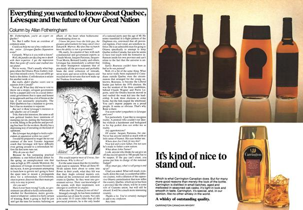 Article Preview: Everything you wanted to know about Quebec, Lévesque and the future of Our Great Nation, December 1976 | Maclean's