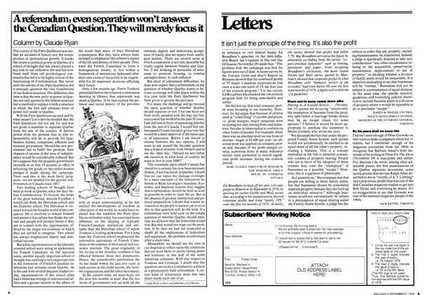 Article Preview: A referendum, even separation won't answer the Canadian Question. They will merely focus it, December 1976 | Maclean's