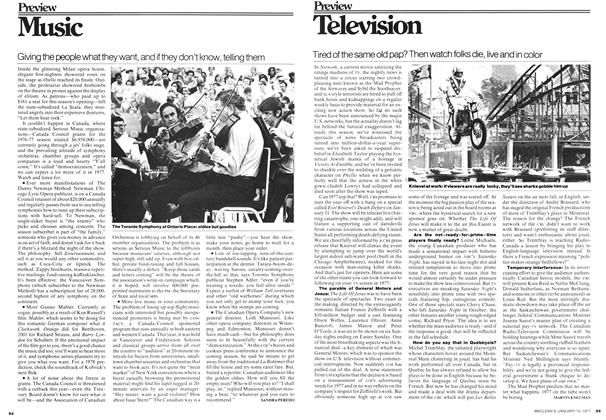 Article Preview: Television, January 1977 | Maclean's