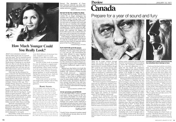 Article Preview: Canada, January 1977 | Maclean's