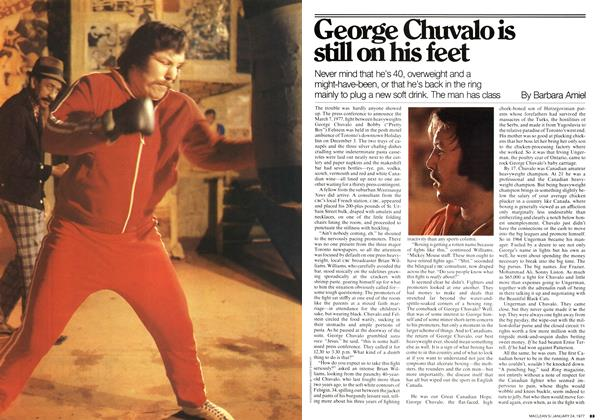 Article Preview: George Chuvalo is still on his feet, January 1977 | Maclean's