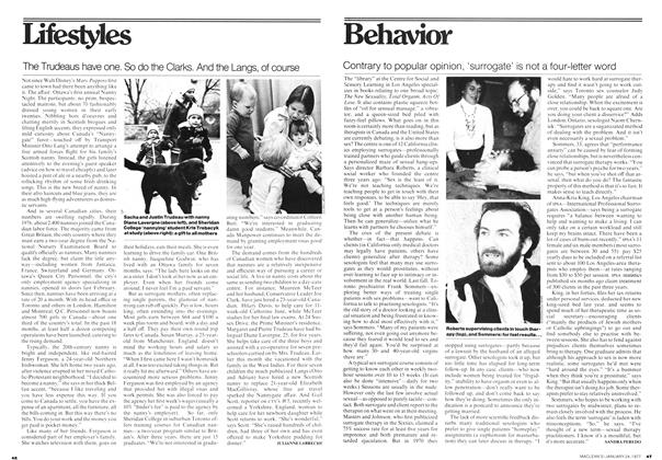 Article Preview: Contrary to popular opinion, 'surrogate' is not a four-letter word, January 1977 | Maclean's
