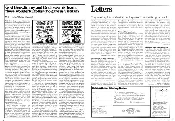 Article Preview: God bless Jimmy and God bless his'team,' those wonderful folks who gave us Vietnam, January 1977 | Maclean's