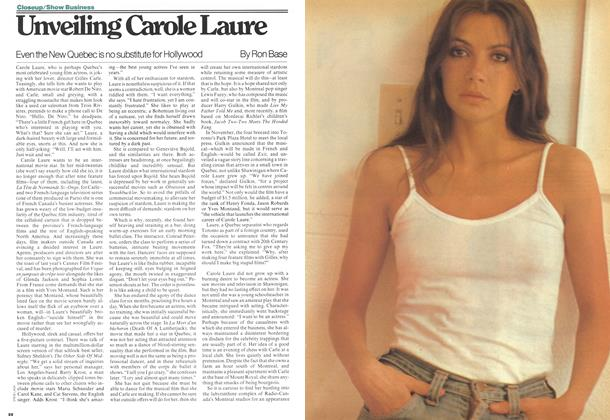 Article Preview: Unveiling Carole Laure, February 1977 | Maclean's