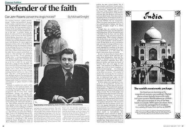 Article Preview: Defender of the faith, February 1977 | Maclean's