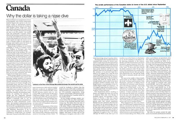 Article Preview: Why the dollar is taking a nose dive, February 1977 | Maclean's