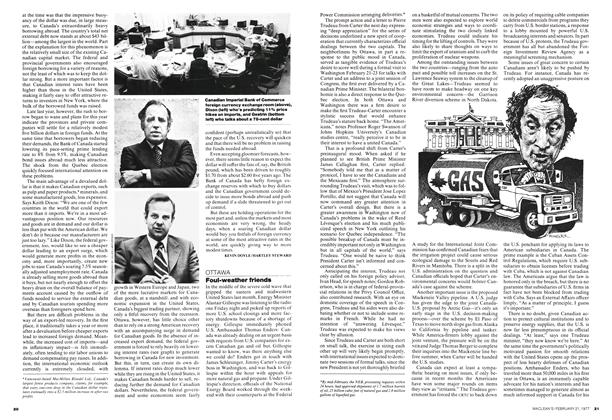 Article Preview: Foul-weather friends, February 1977 | Maclean's