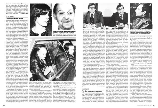 Article Preview: To the losers... a mess, February 1977 | Maclean's
