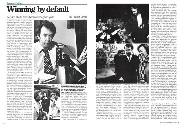 Article Preview: Winning by default, February 1977 | Maclean's