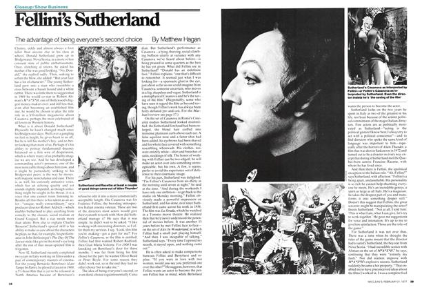 Article Preview: Fellini's Sutherland, February 1977 | Maclean's