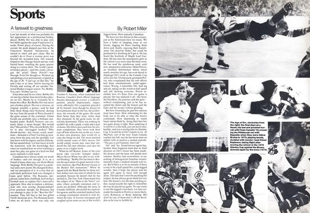 Article Preview: A farewell to greatness, February 1977 | Maclean's