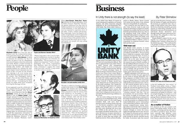 Article Preview: In Unity there is not strength (to say the least), February 1977 | Maclean's