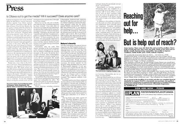 Article Preview: Nature's bounty, February 1977 | Maclean's