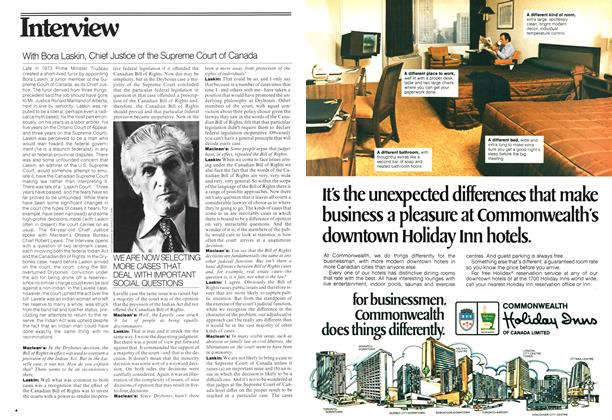 Article Preview: With Bora Laskin, Chief Justice of the Supreme Court of Canada, February 1977 | Maclean's