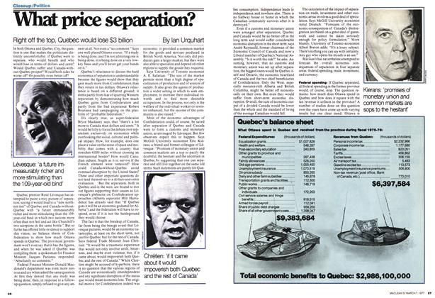 Article Preview: What price separation?, March 1977 | Maclean's
