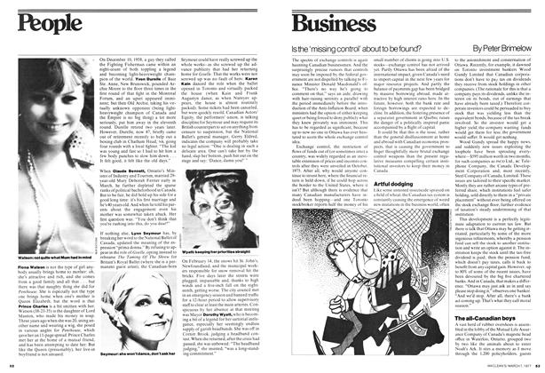 Article Preview: Is the 'missing control' about to be found?, March 1977 | Maclean's
