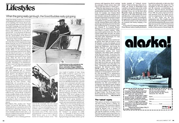 Article Preview: When the going really got tough, the Good Buddies really got going, March 1977 | Maclean's