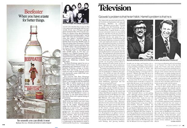 Article Preview: Gzowski's problem is that he isn't slick. Hamel's problem is that he is, March 1977 | Maclean's