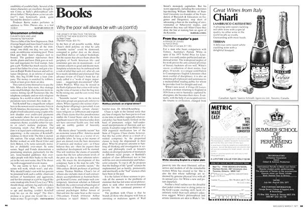 Article Preview: Why the poor will always be with us (cont'd), March 1977 | Maclean's
