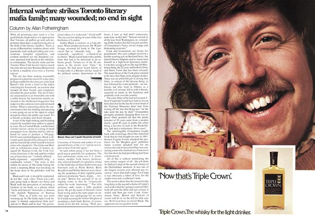 Article Preview: Internal warfare strikes Toronto literary mafia family; many wounded; no end in sight, March 1977 | Maclean's