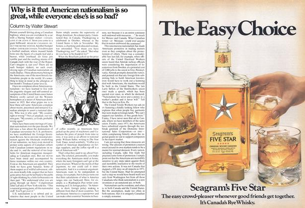Article Preview: Why is it that American nationalism is so great, while everyone else's is so bad?, March 1977 | Maclean's