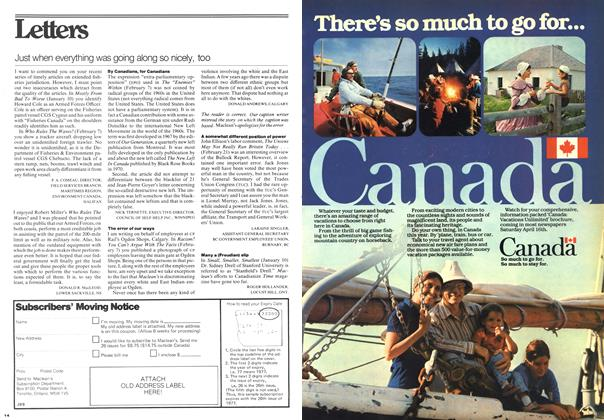 Article Preview: Just when everything was going along so nicely, too, March 1977 | Maclean's
