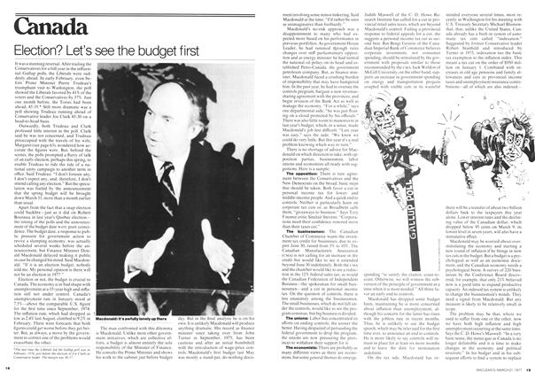 Article Preview: Election? Let's see the budget first, March 1977 | Maclean's
