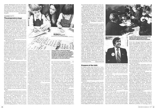 Article Preview: The preparatory stage, March 1977 | Maclean's