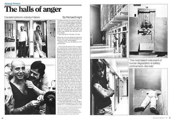Article Preview: The halls of anger, March 1977 | Maclean's