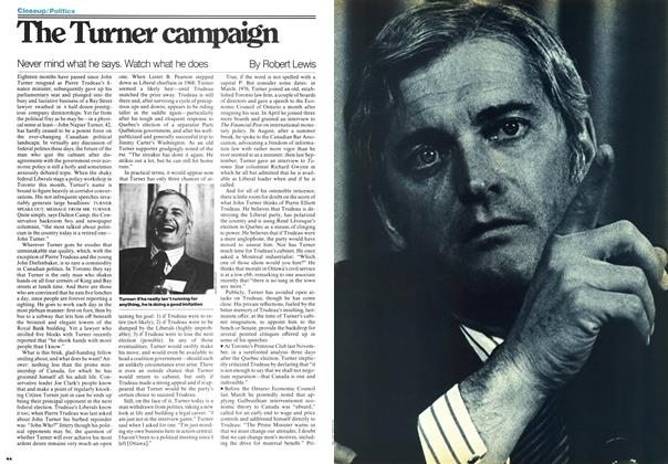 Article Preview: The Turner campaign, March 1977 | Maclean's
