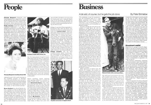Article Preview: A bit odd, of course, but he gets the job done, March 1977 | Maclean's